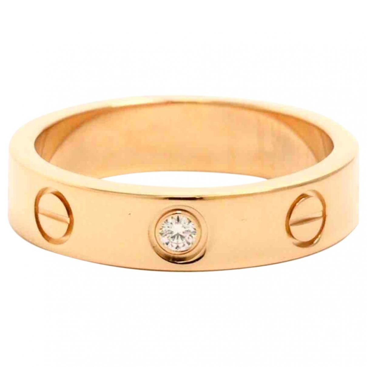 Anillo Love de Oro rosa Cartier