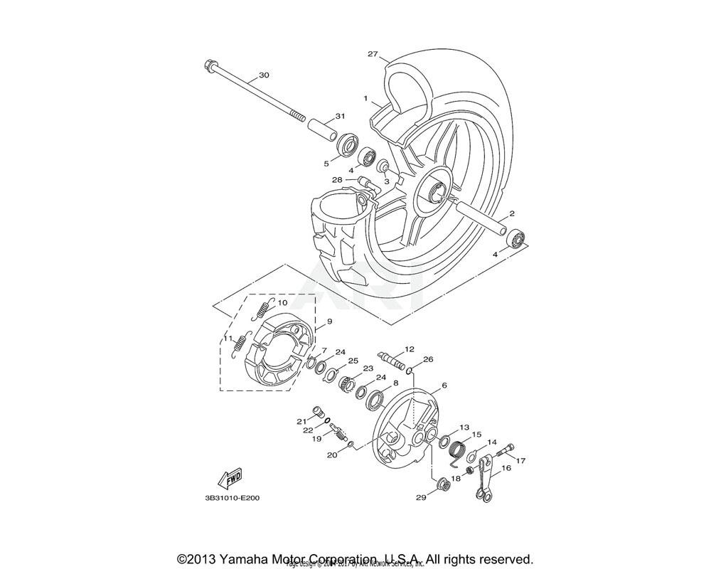 Yamaha OEM 90101-06818-00 BOLT