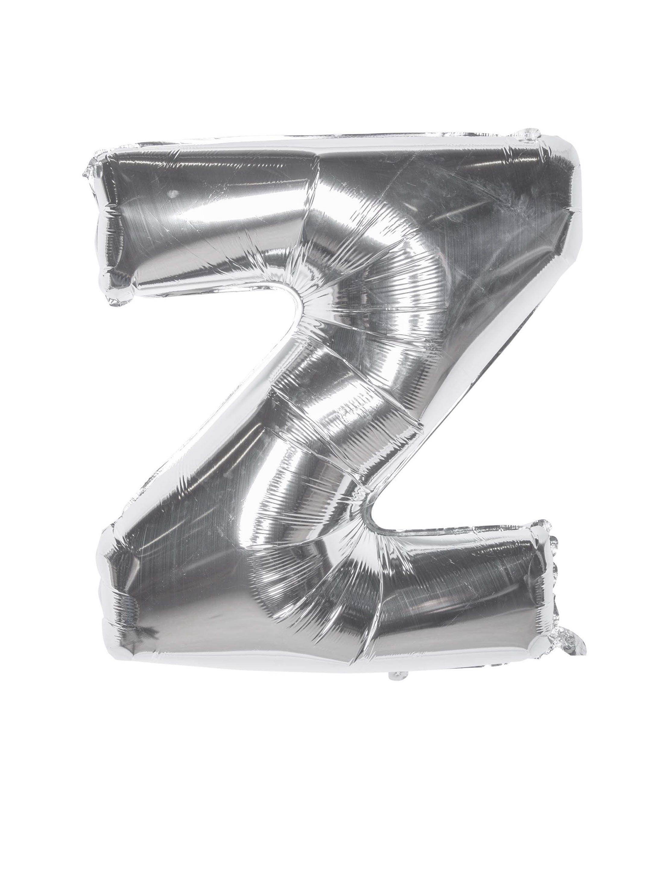 Folienballon Buchstabe Z silber