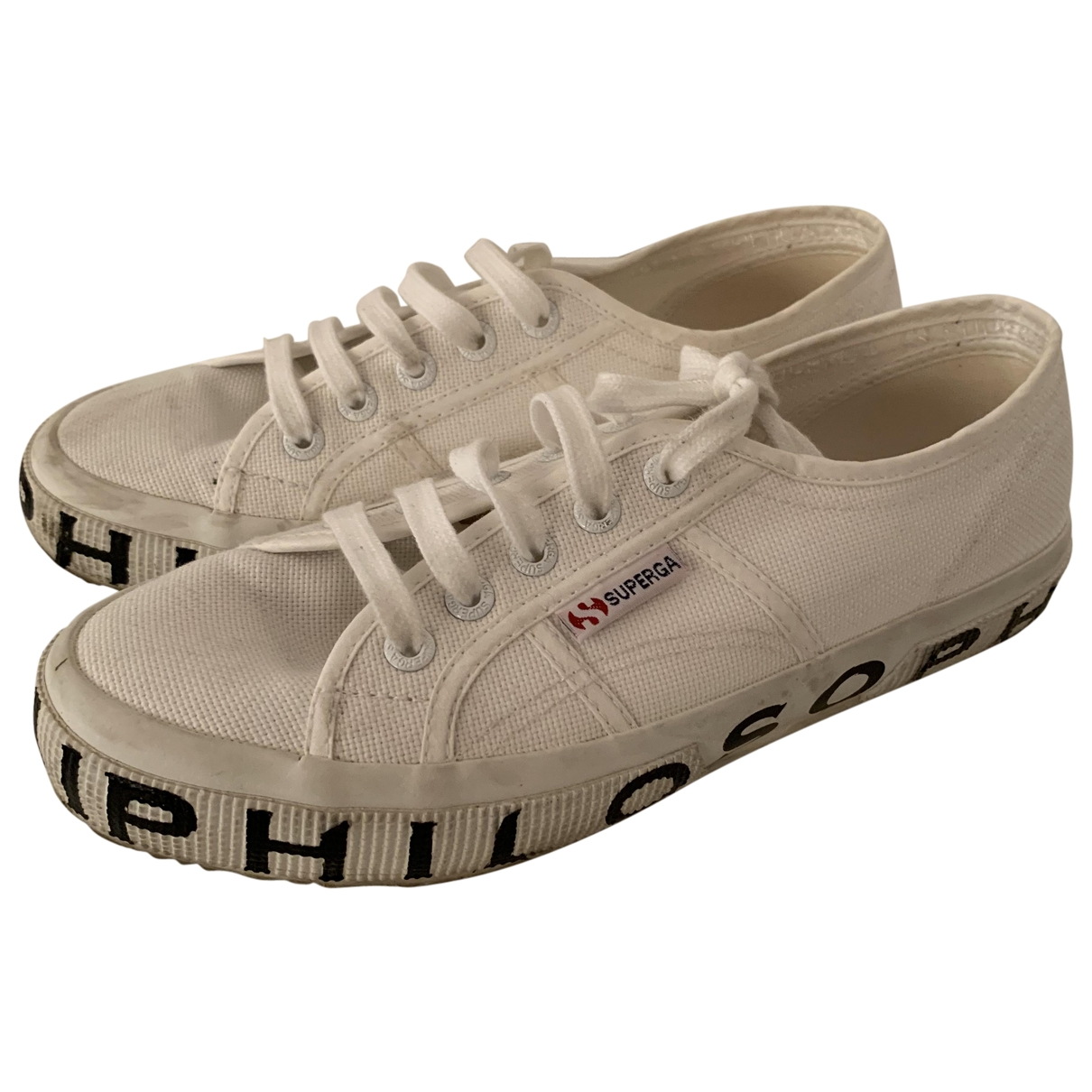 Superga \N White Cloth Trainers for Women 38 EU