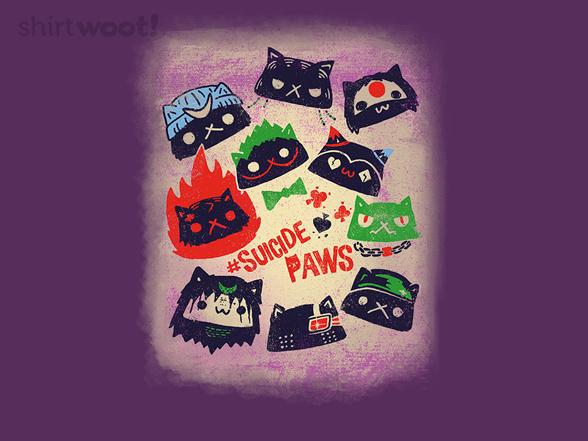 Suicide Paws T Shirt