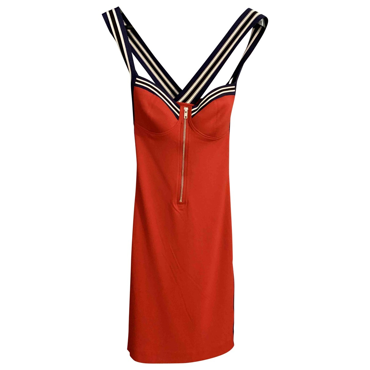 Moschino Love \N Kleid in  Rot Viskose
