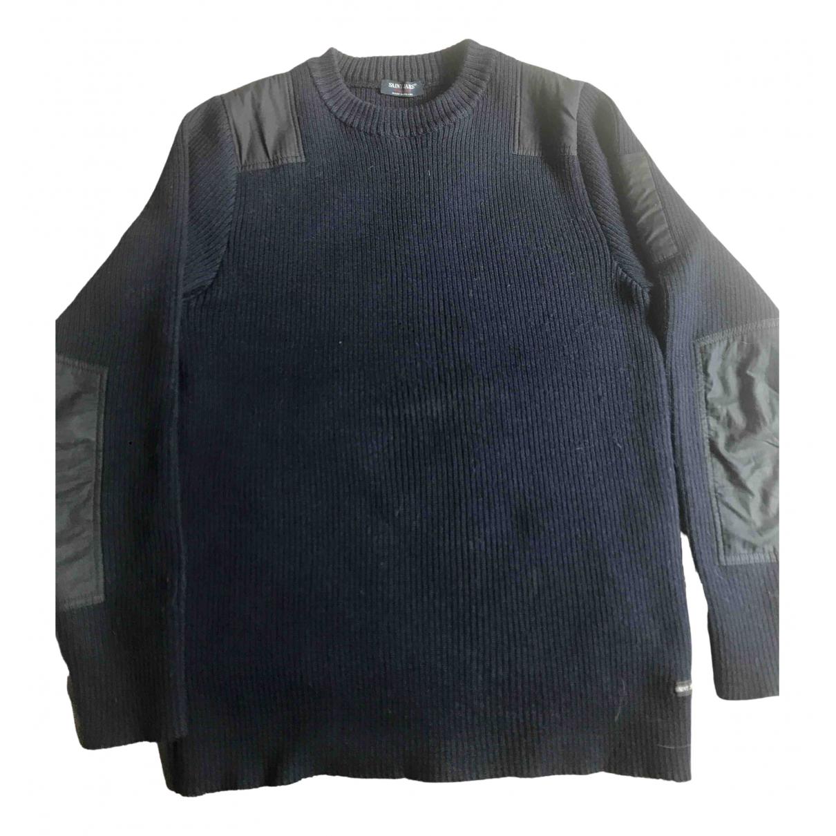 Saint James \N Pullover.Westen.Sweatshirts  in  Blau Wolle