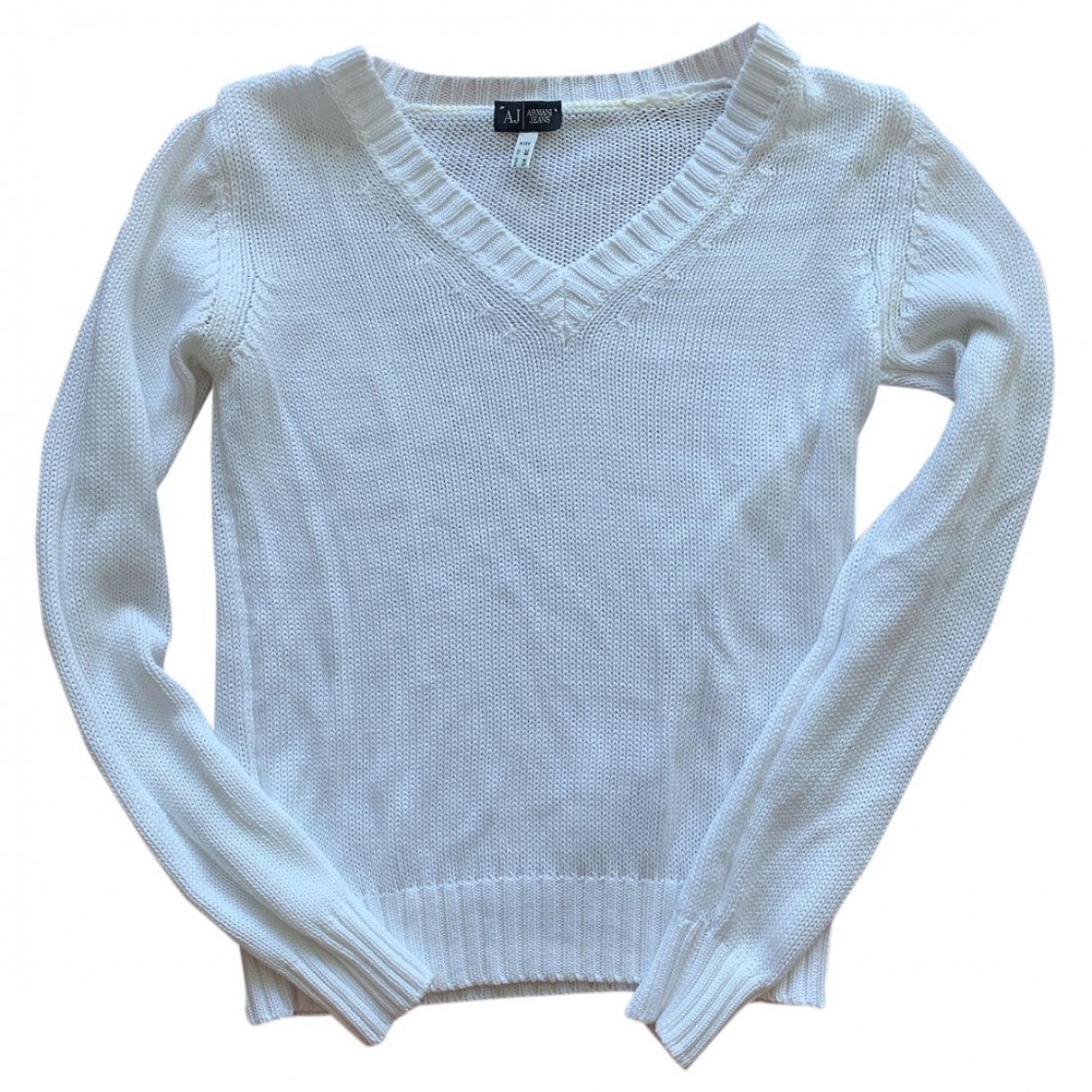 Armani Jeans \N Pullover in  Weiss Baumwolle