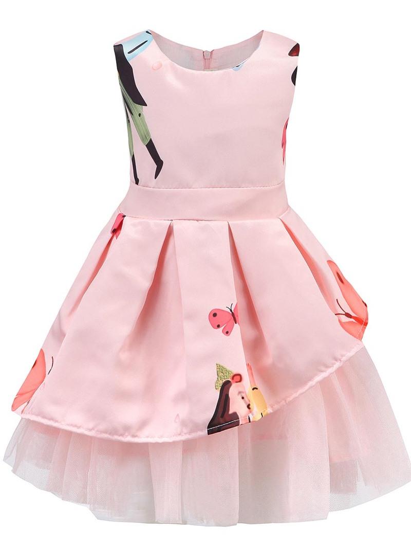 Ericdress Animal Printing Asymmetrical Hem Sleeveless Dress