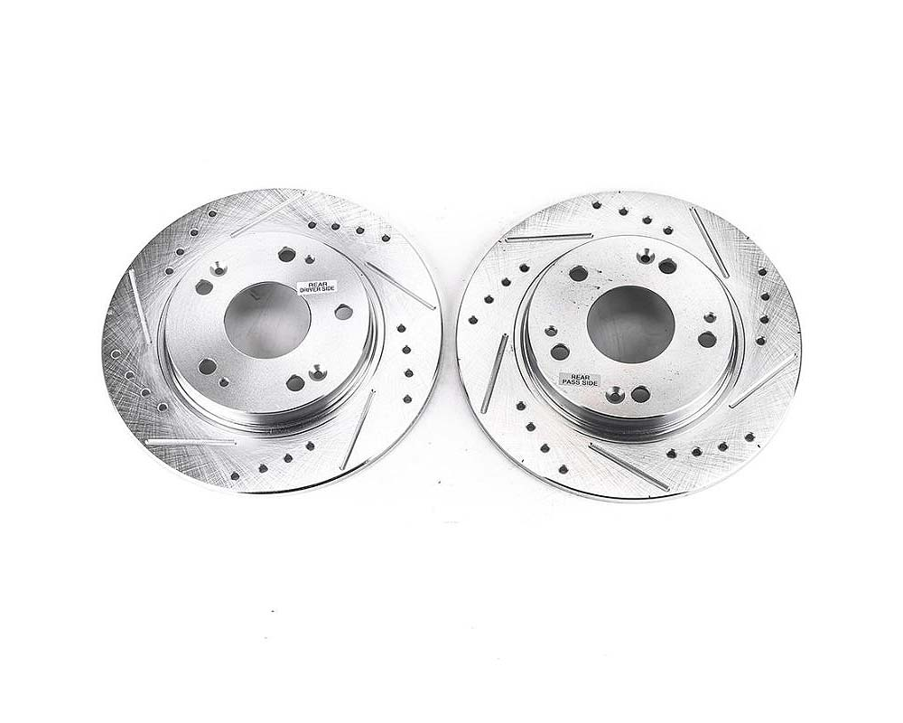 Power Stop JBR1385XPR Evolution Drilled & Slotted Rotors - Pair Rear Honda CR-Z 2011-2015