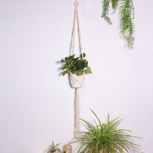 1pc Braided Hanging Basket