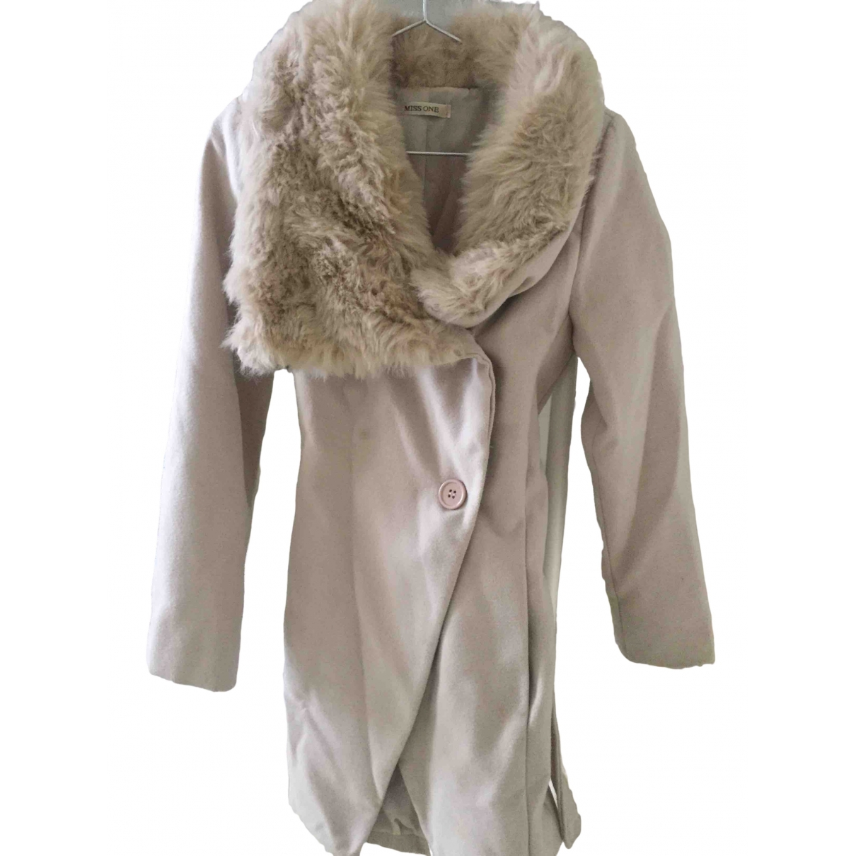 Non Signe / Unsigned \N Maentel in  Beige Polyester