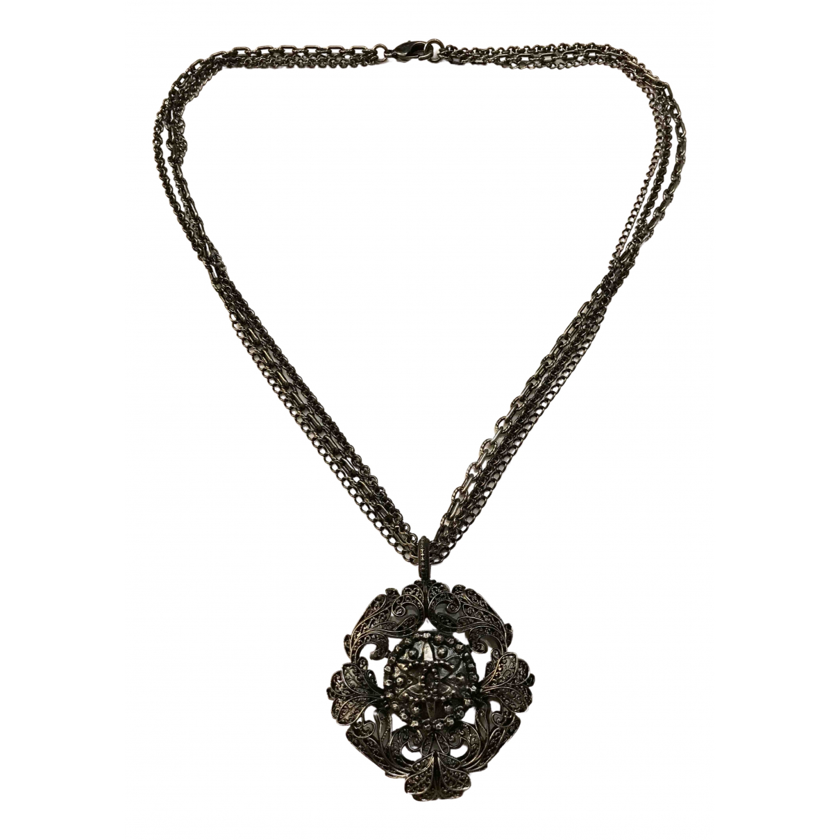Chanel Baroque Anthracite Metal pendant for Women \N