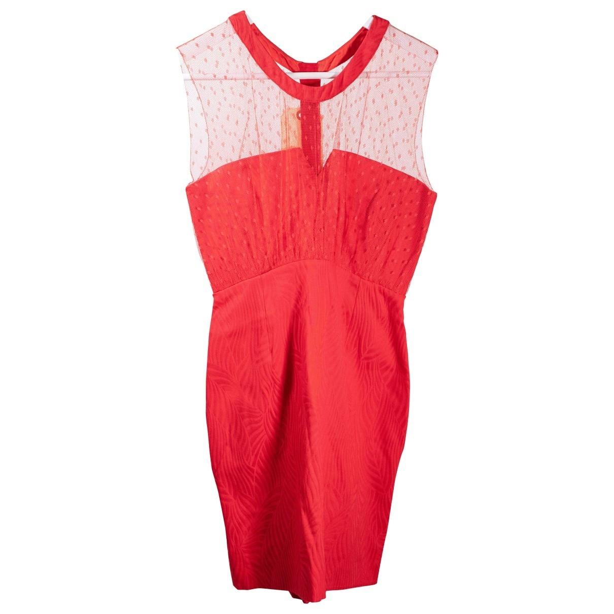 The Kooples \N Kleid in  Rot Synthetik