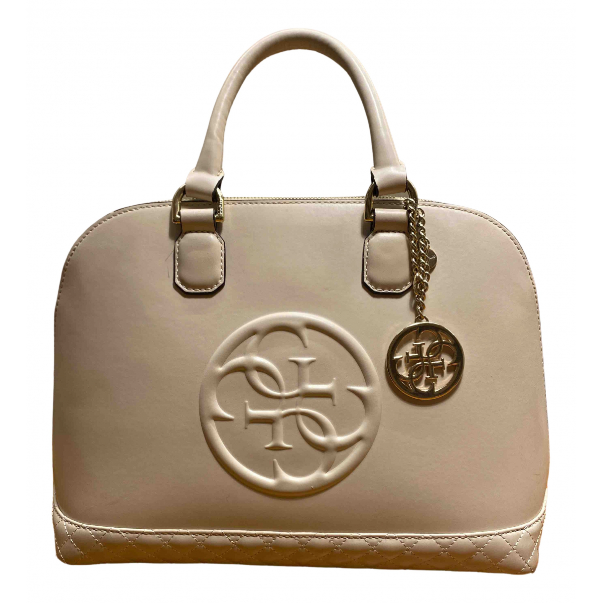 Guess \N Handtasche in  Beige Polyester