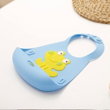1pc Kids Adjustable Silicone Bib