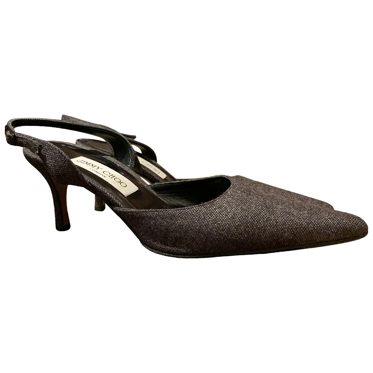 Jimmy Choo \N Grey Cloth Heels for Women 37 EU