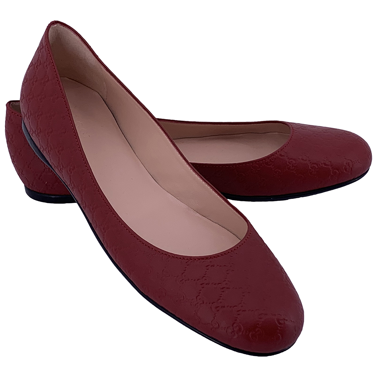 Gucci N Red Leather Ballet flats for Women 39 IT
