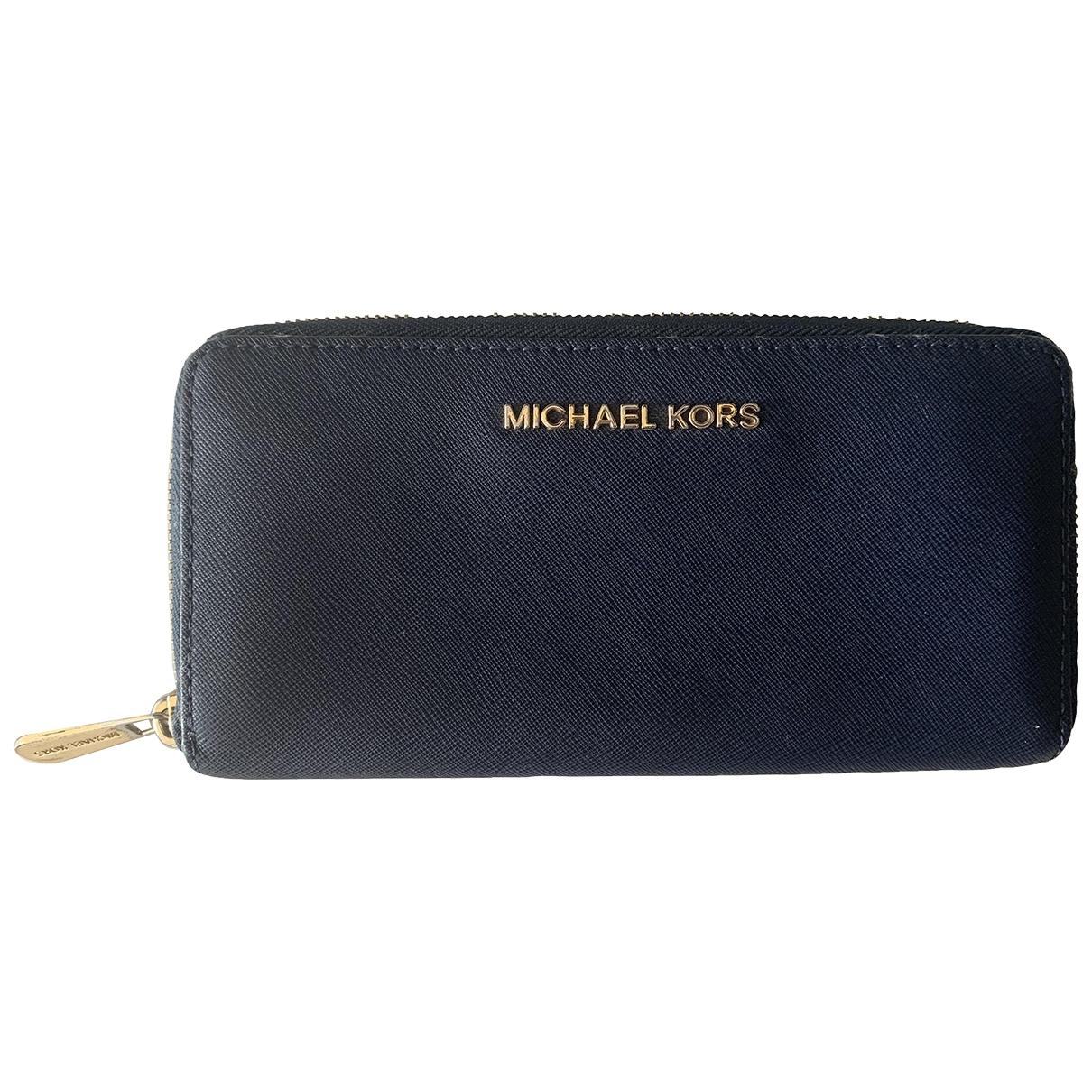 Michael Kors \N Portemonnaie in  Blau Leder
