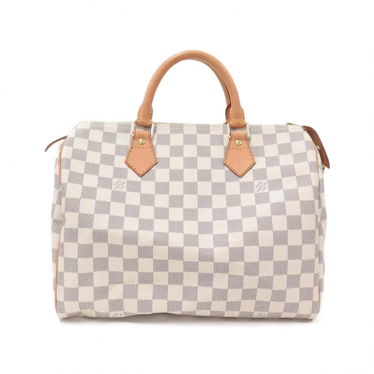 Louis Vuitton - Sac a main Speedy pour femme en toile - beige