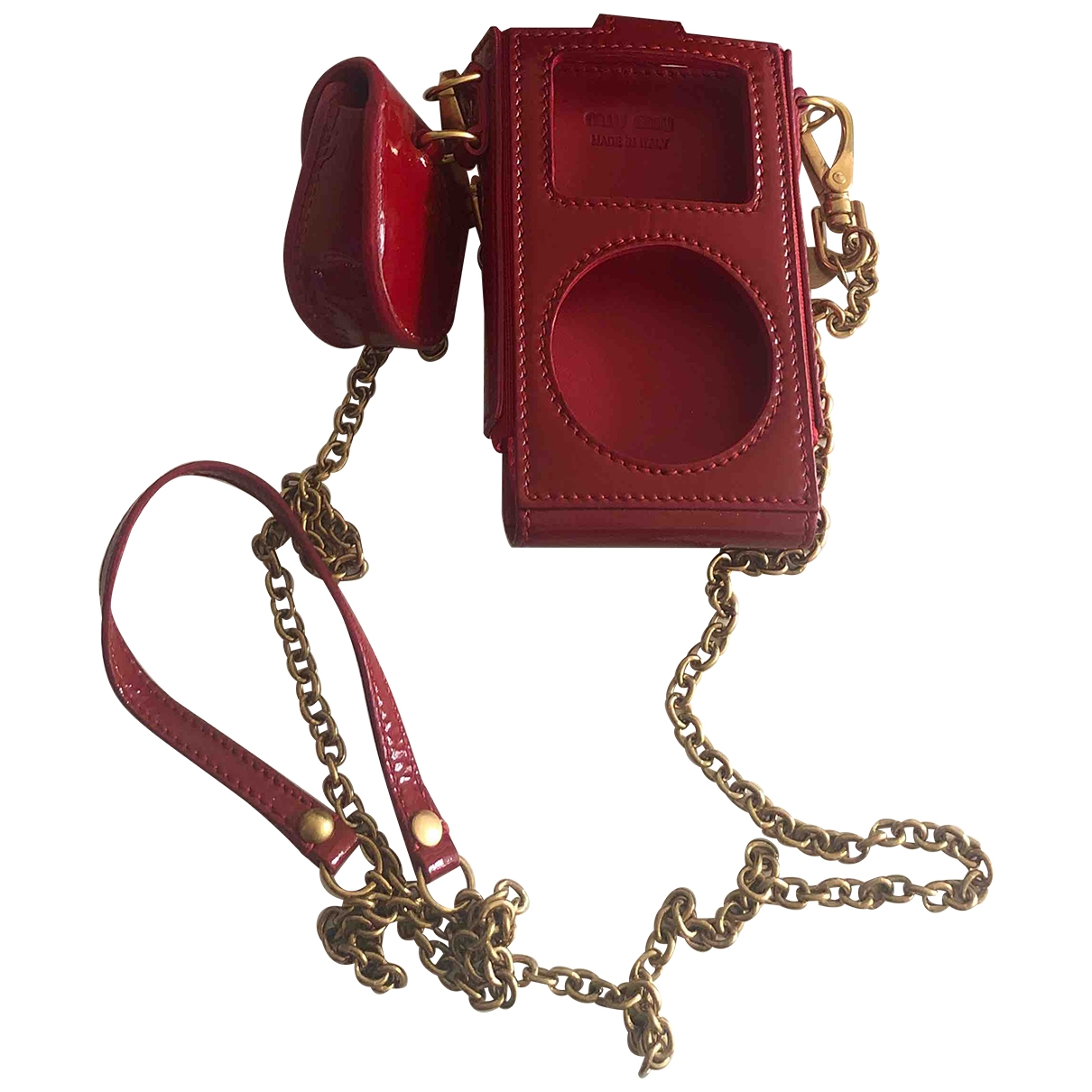 Miu Miu \N Red Patent leather Accessories for Life & Living \N
