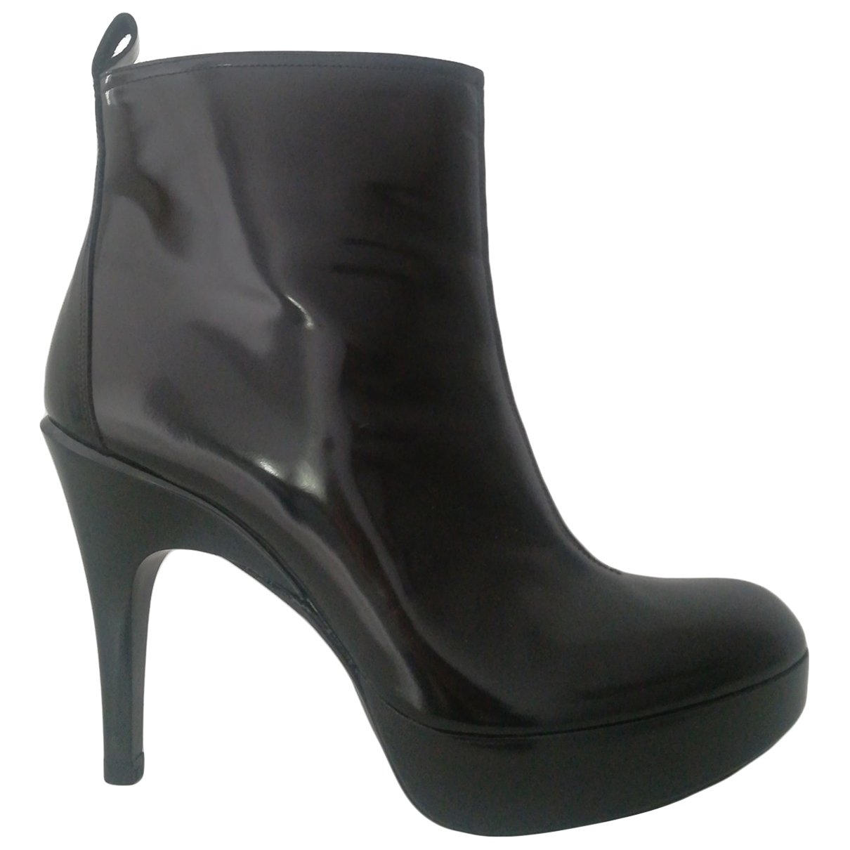 Pedro Garcia \N Black Patent leather Ankle boots for Women 38 EU