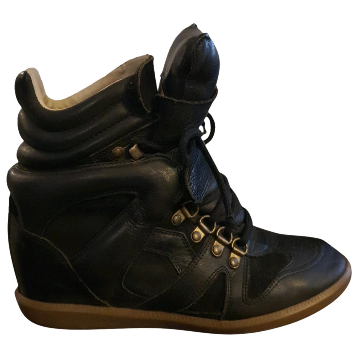 Isabel Marant \N Black Leather Trainers for Women 39 EU