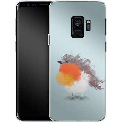 Samsung Galaxy S9 Silikon Handyhuelle - Cloudy Robin von caseable Designs