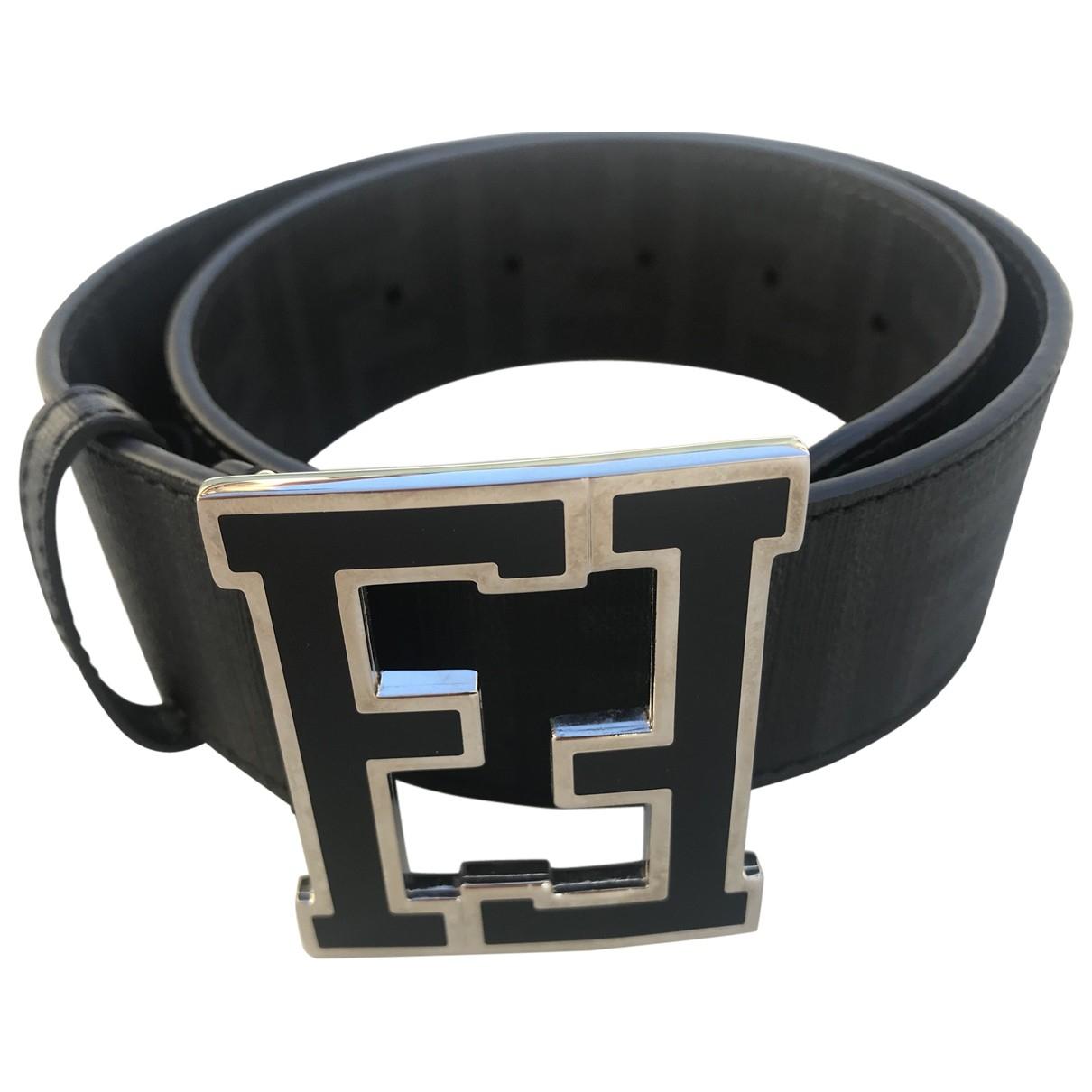 Fendi \N Anthracite Cloth belt for Women 75 cm