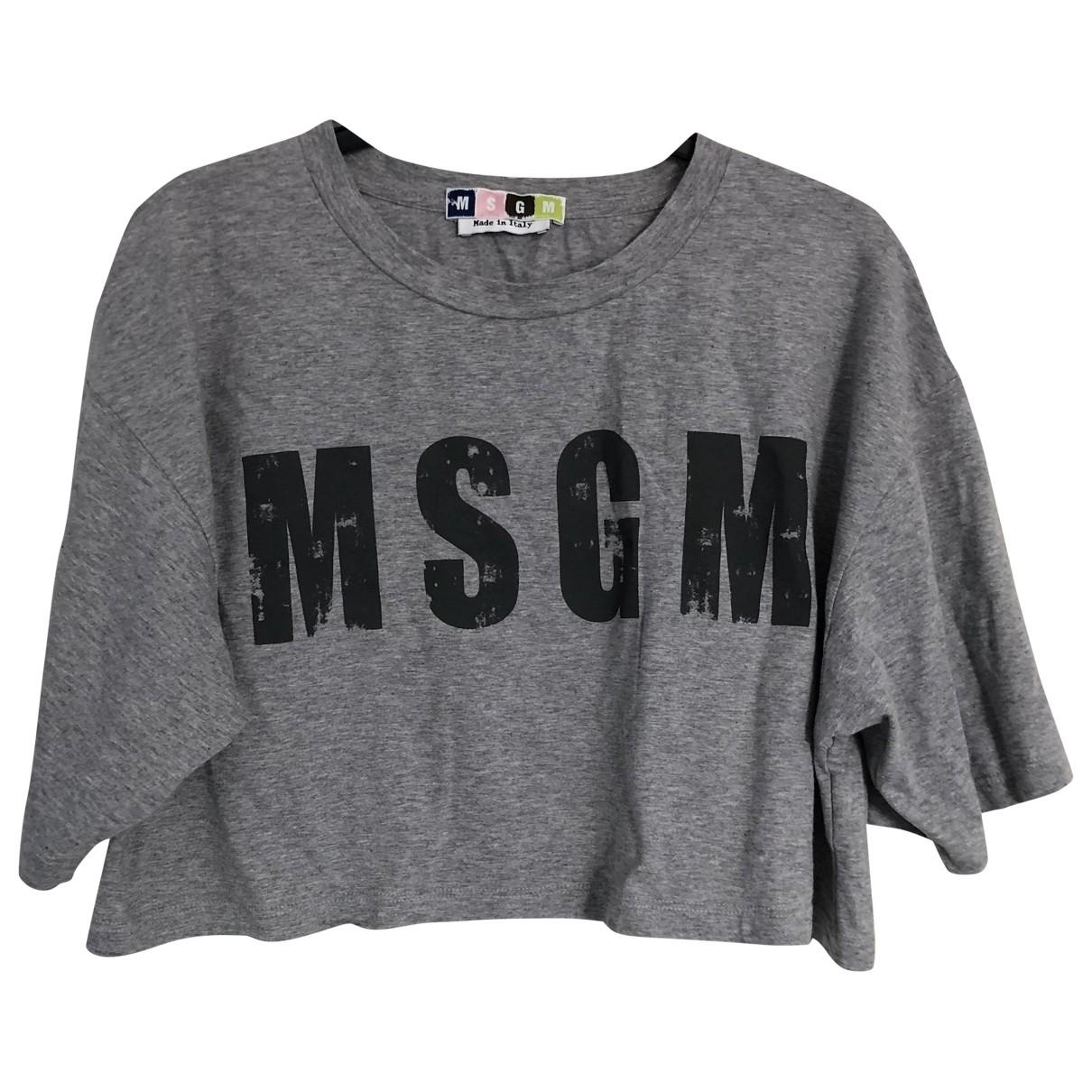 Msgm - Top   pour femme en coton - gris