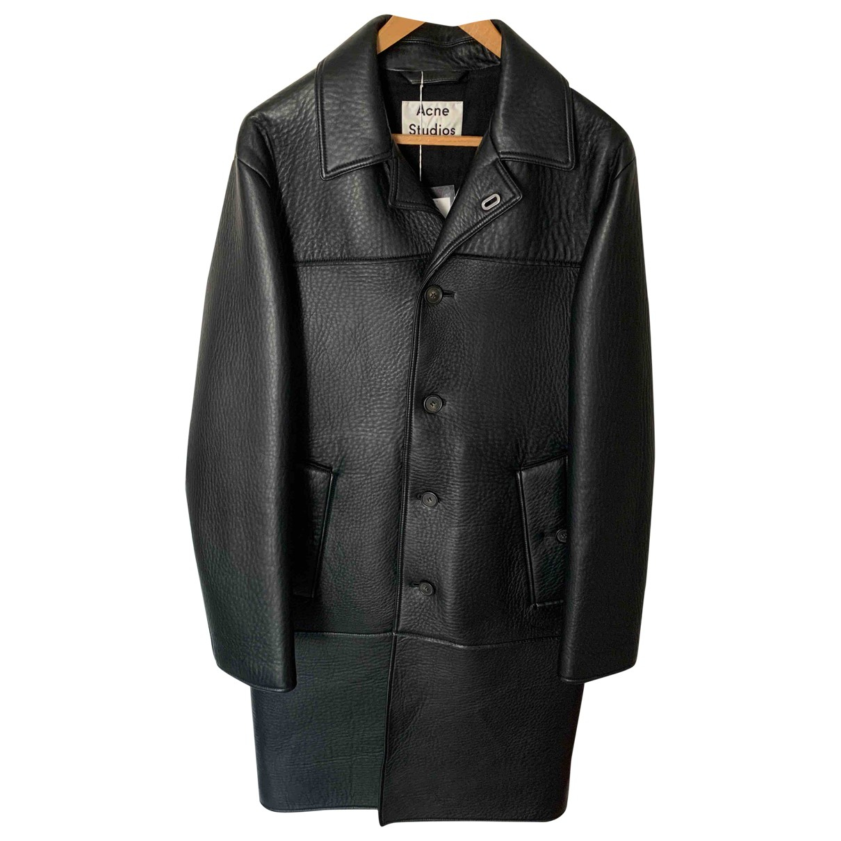 Acne Studios \N Black Leather coat  for Men 50 FR
