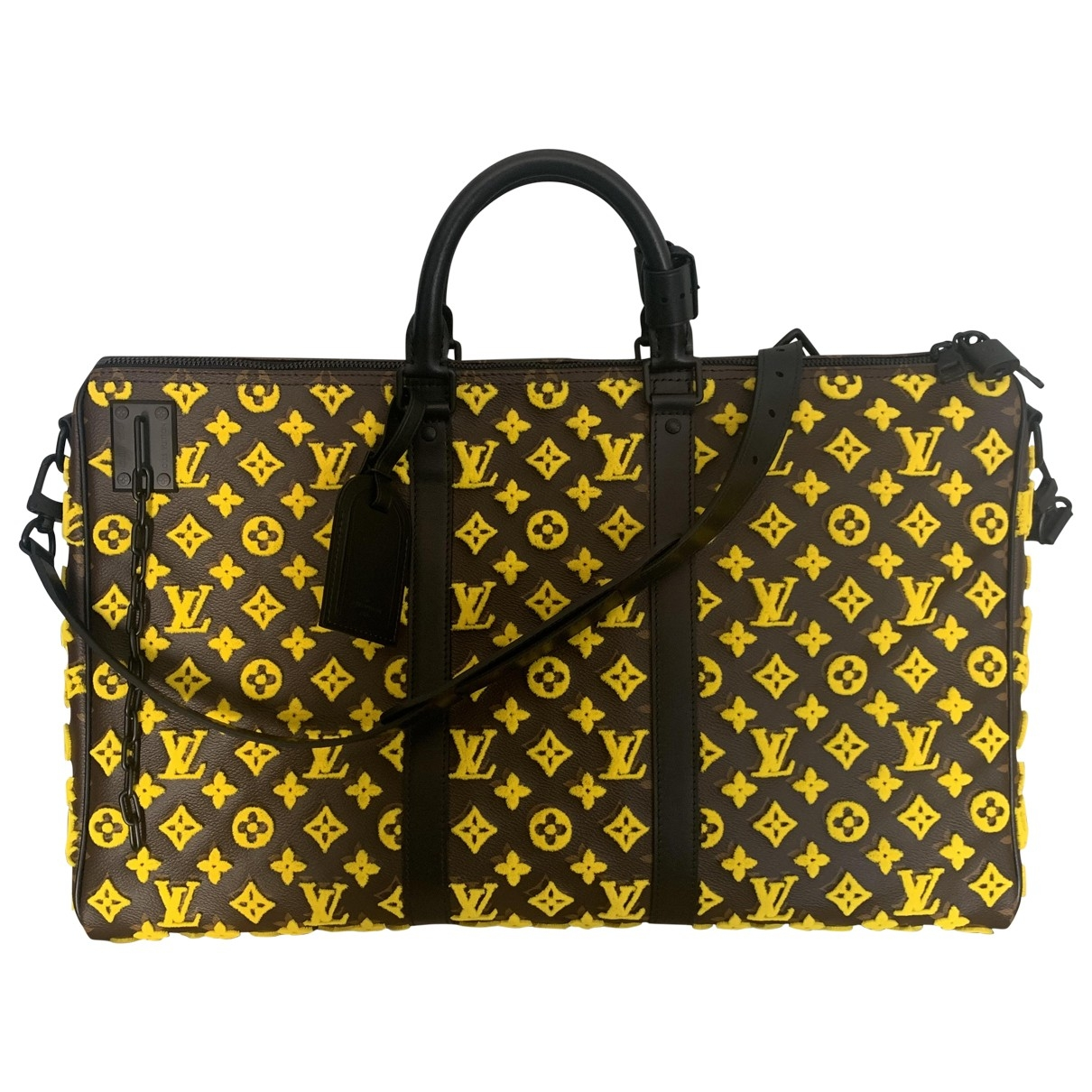 Louis Vuitton Keepall Triangle Yellow Leather bag for Men \N