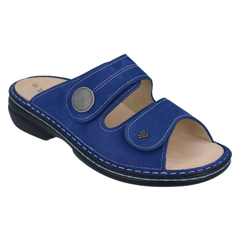 Finn Comfort Sansibar Cobalt Blue Nubuck Soft Footbed 38