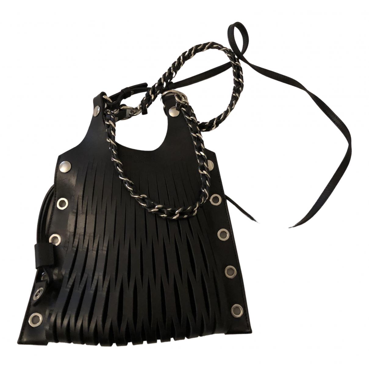 Sonia Rykiel Baltard Handtasche in  Schwarz Leder