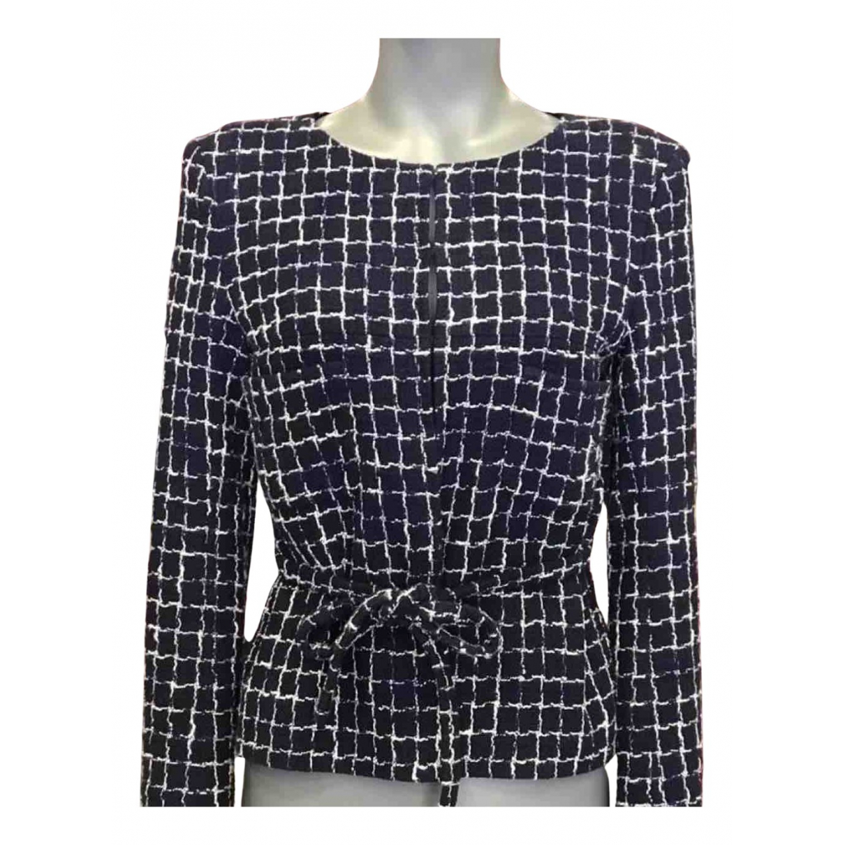 Chanel N Navy Tweed jacket for Women 38 FR
