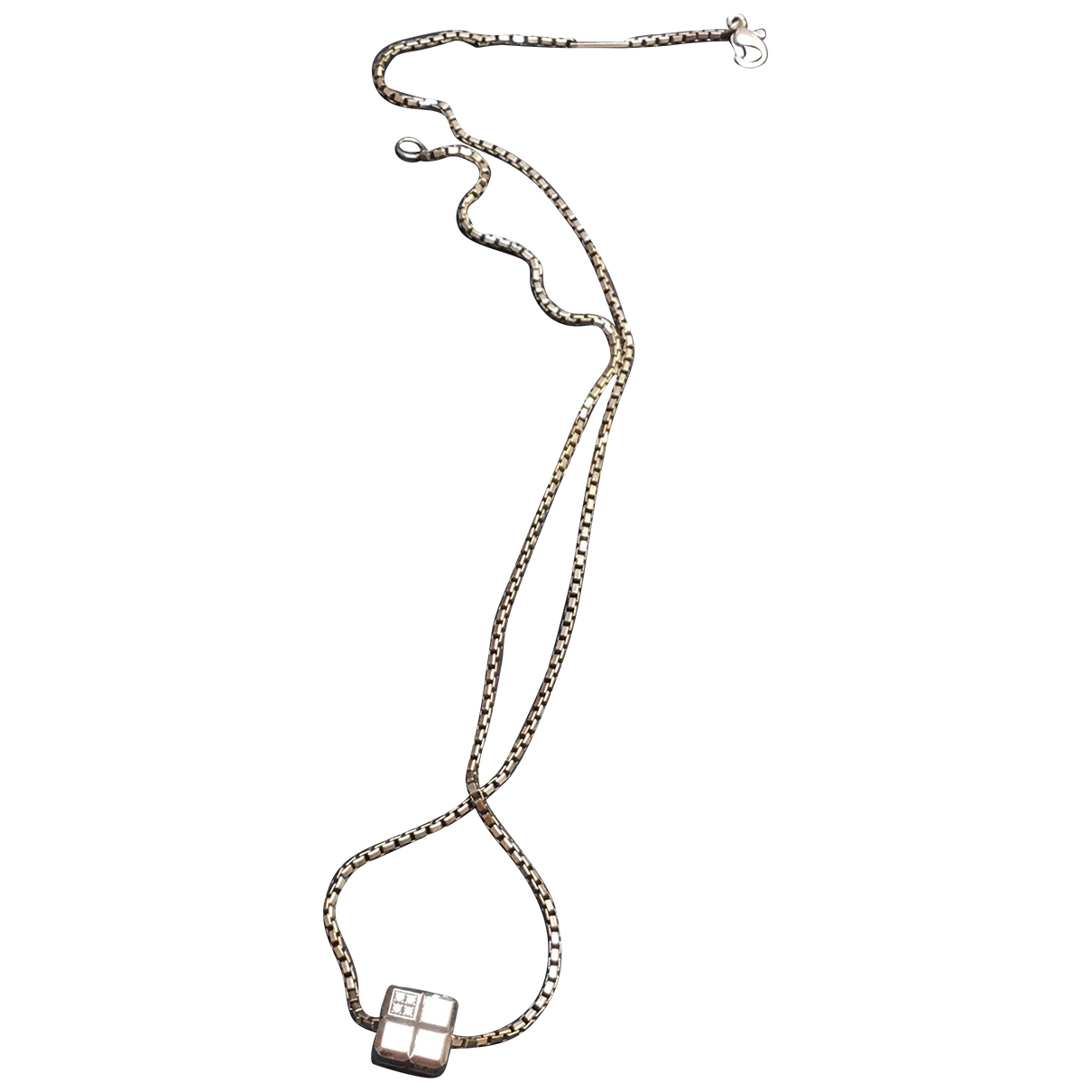 Collar Ice Cube de Oro blanco Chopard