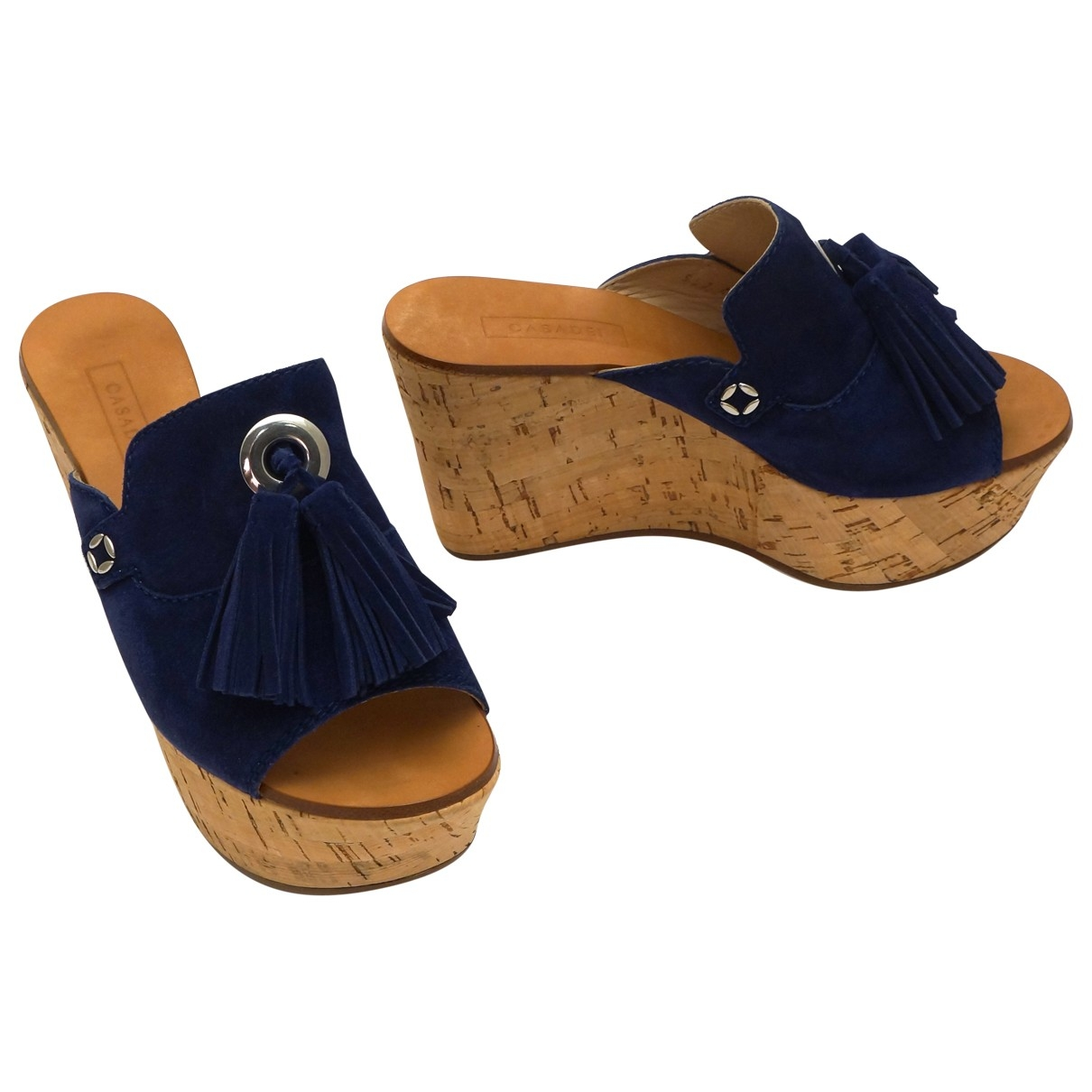 Casadei \N Blue Suede Sandals for Women 6.5 US