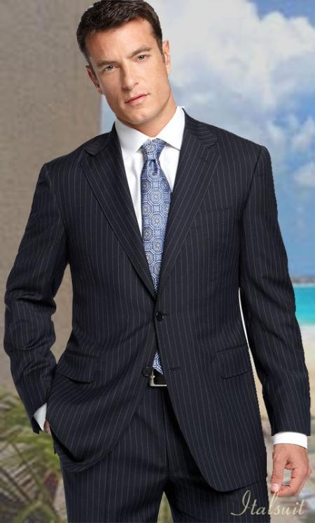 2Btn Charcoal with Pinstripe Suit  Pant 19 Inch Bottom