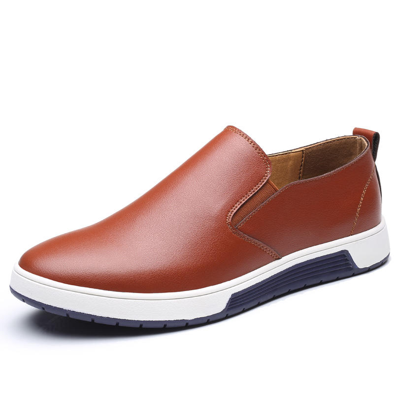 Business Casual Soft Leather Slip On Flats