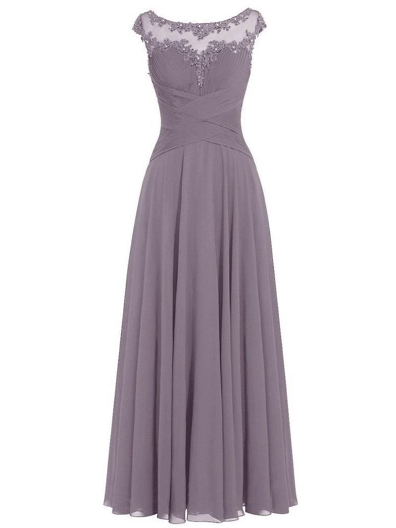 Ericdress Cap Sleeves Sequins Appliques Mother Of The Bride Dress