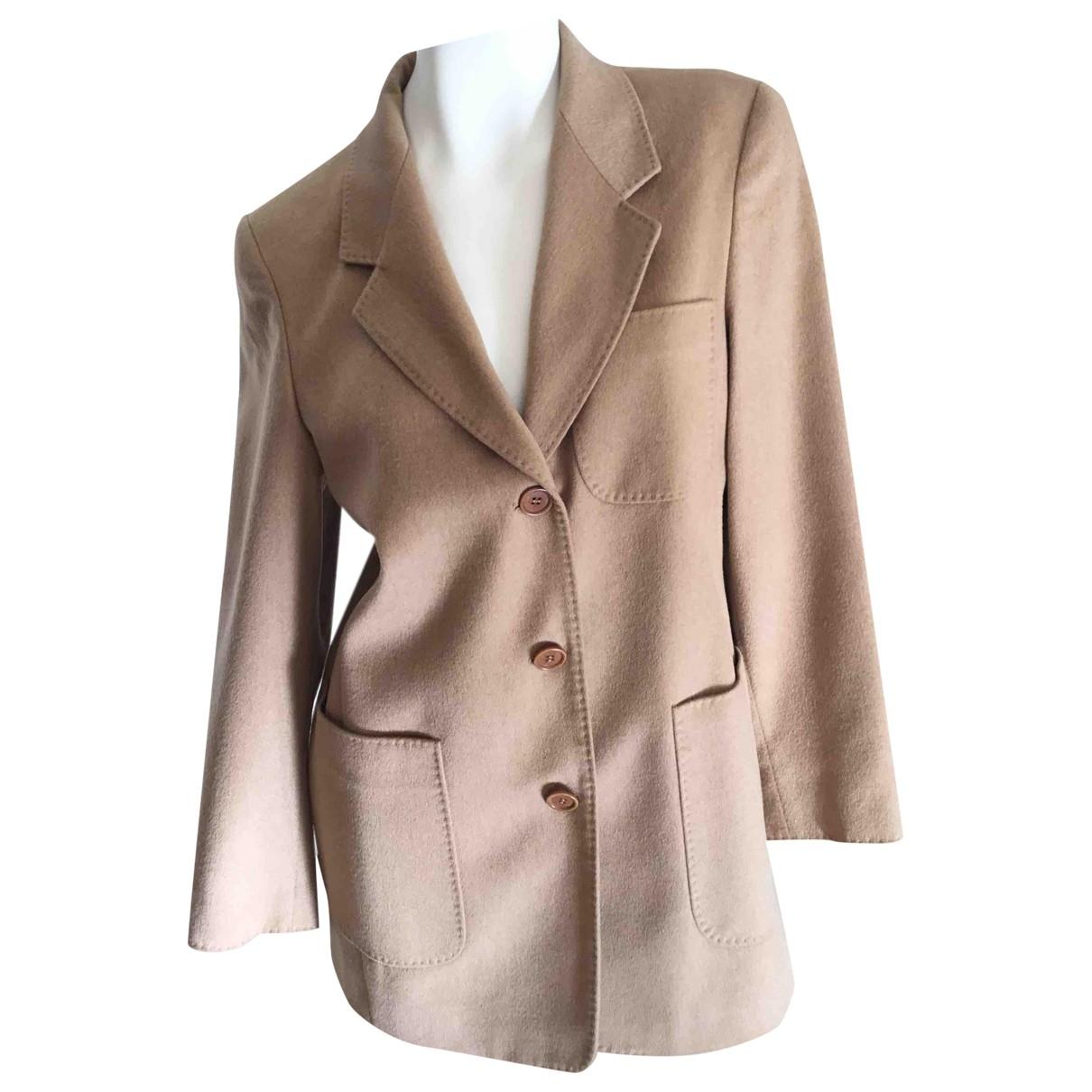 Max Mara \N Camel Wool jacket for Women 40 FR