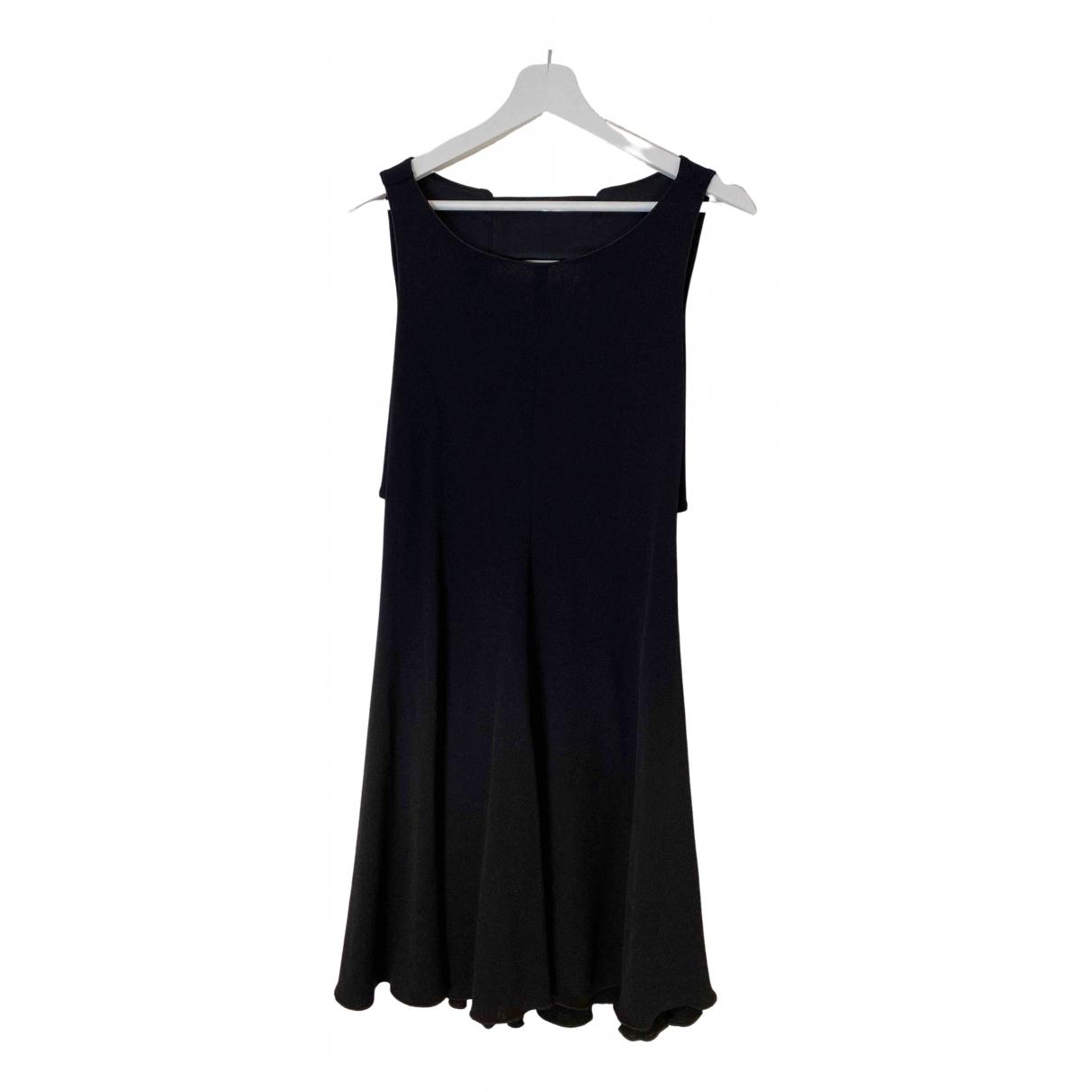 Armani Collezioni - Robe   pour femme en coton - elasthane - noir