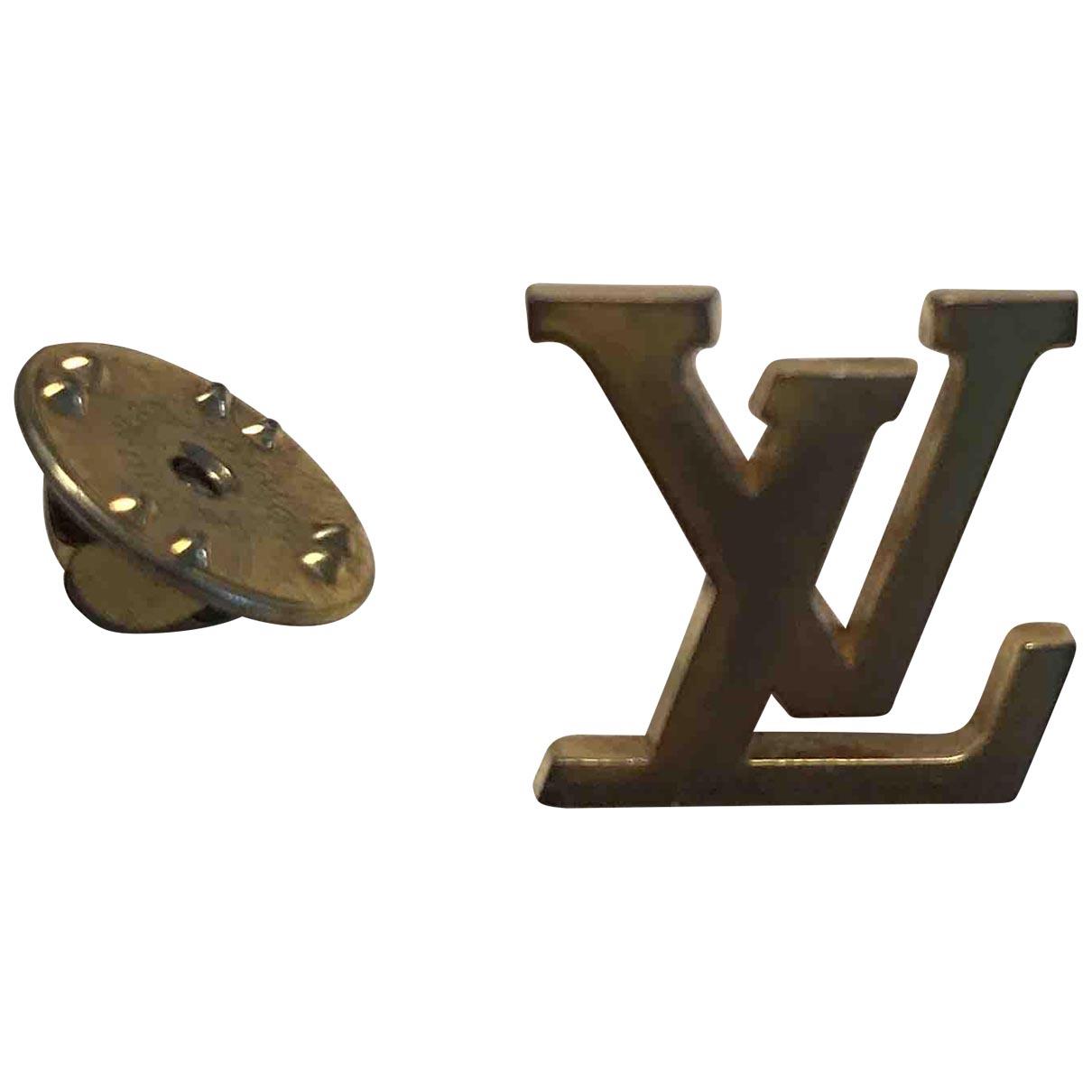 Louis Vuitton - Broche Monogram pour femme en metal - dore