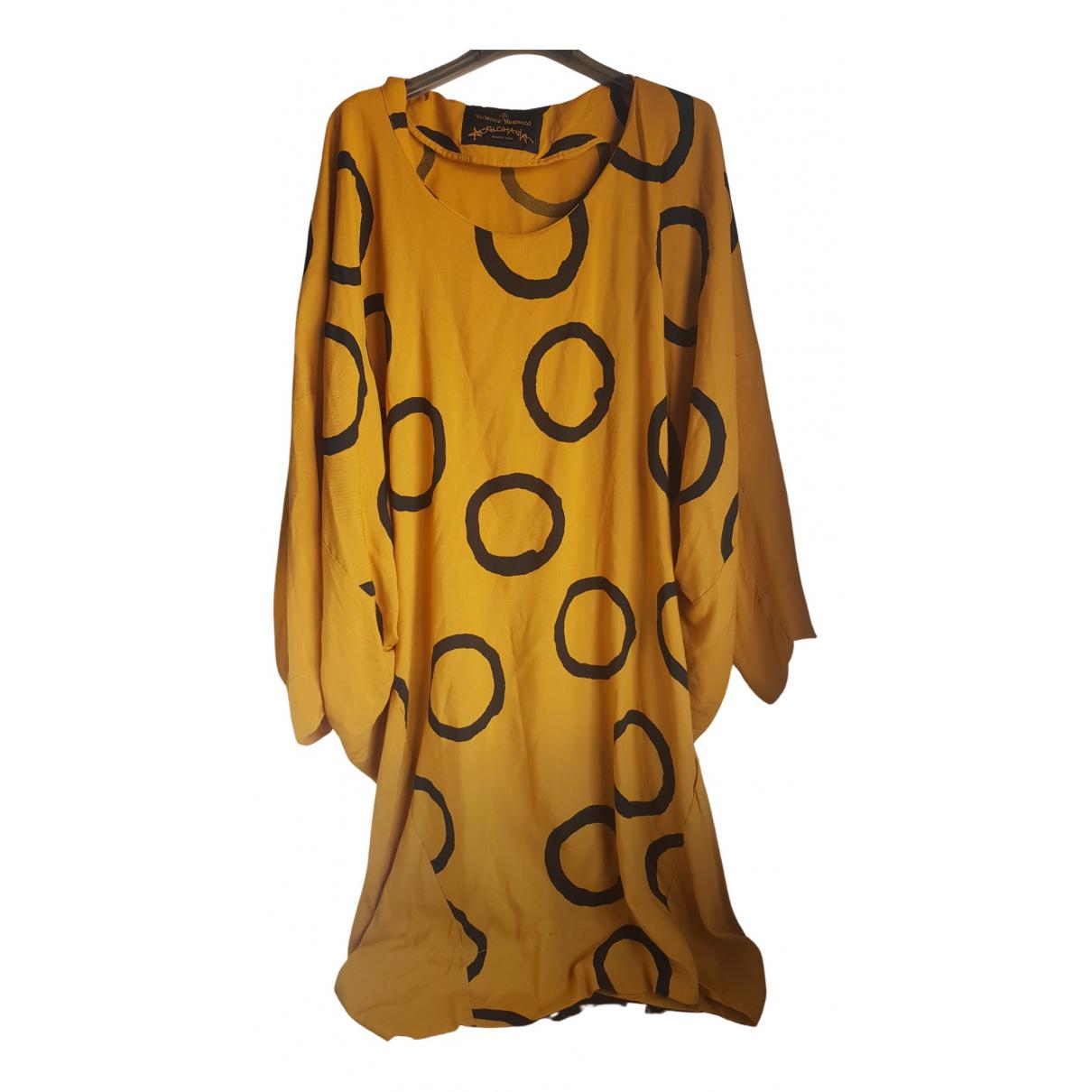 Vivienne Westwood Anglomania \N Kleid in  Gelb Viskose