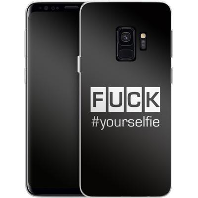 Samsung Galaxy S9 Silikon Handyhuelle - Fck Yourselfie von Statements