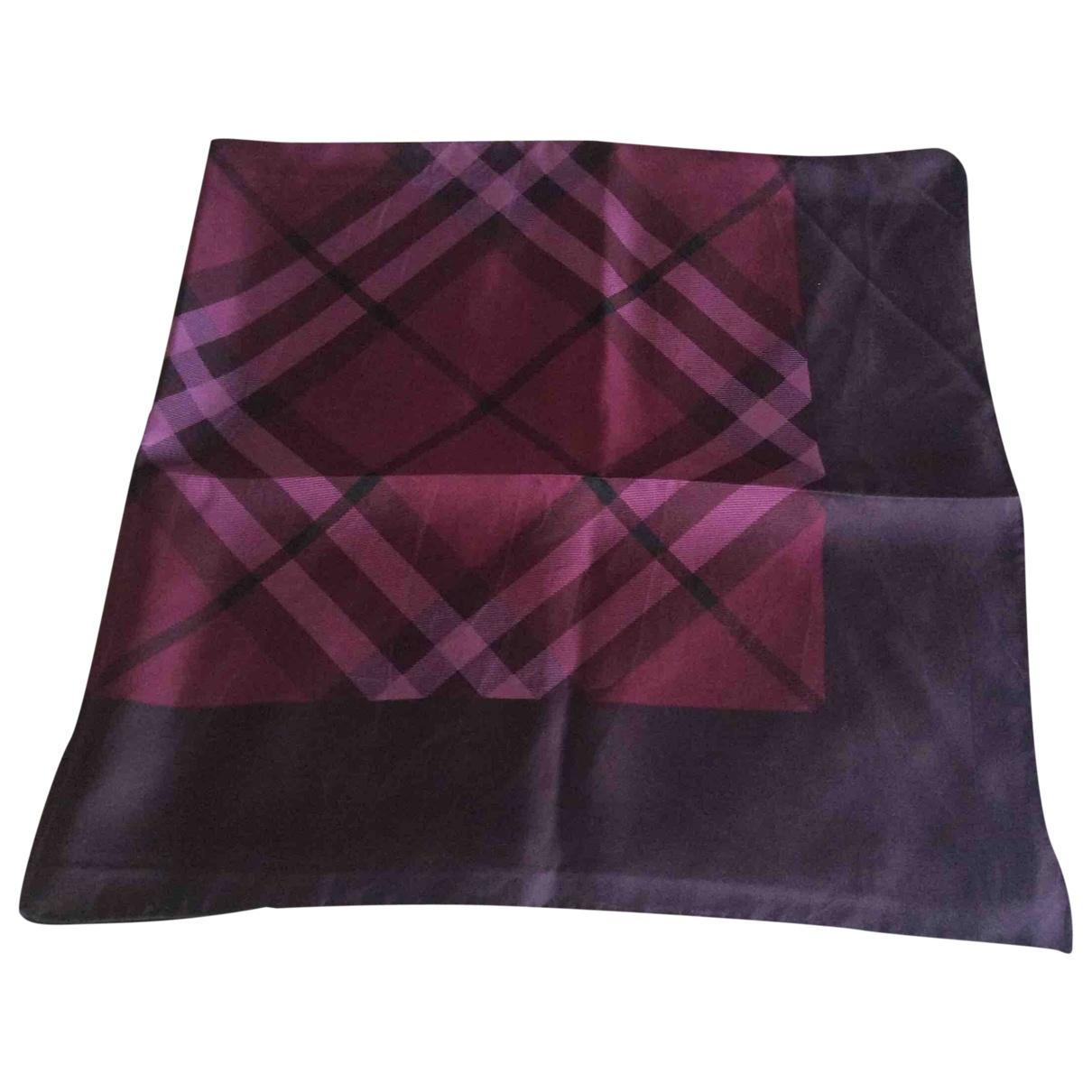 Burberry \N Purple Silk scarf for Women \N