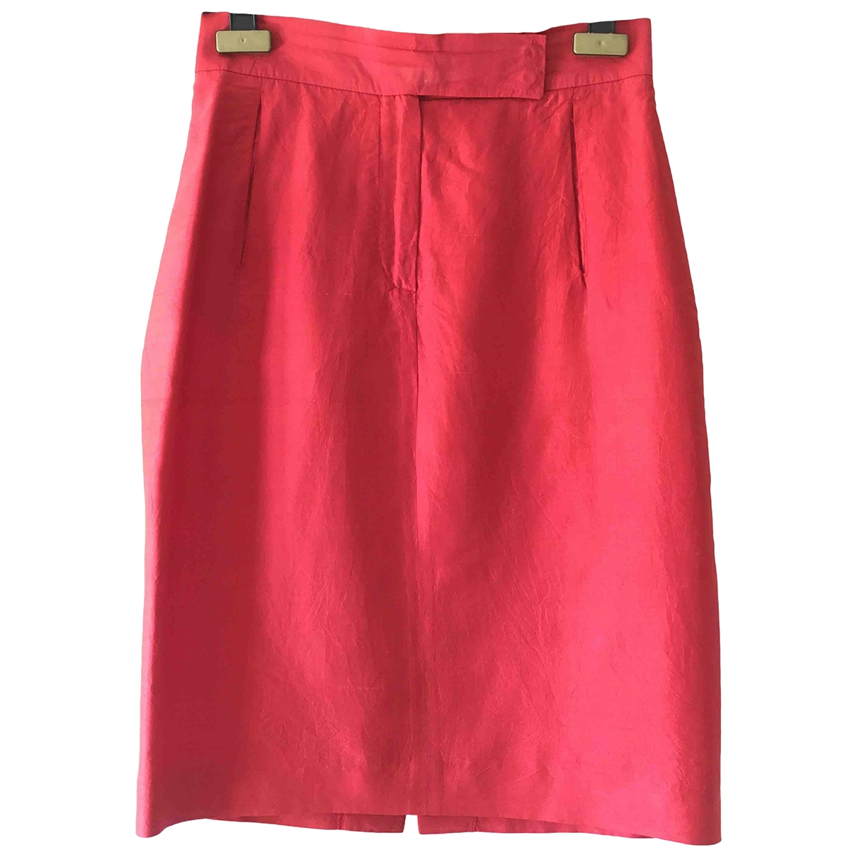 Non Signé / Unsigned \N Red Silk skirt for Women 42 IT