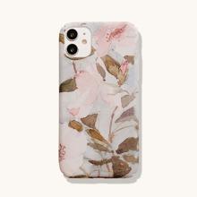 1pc Leaf Print iPhone Case