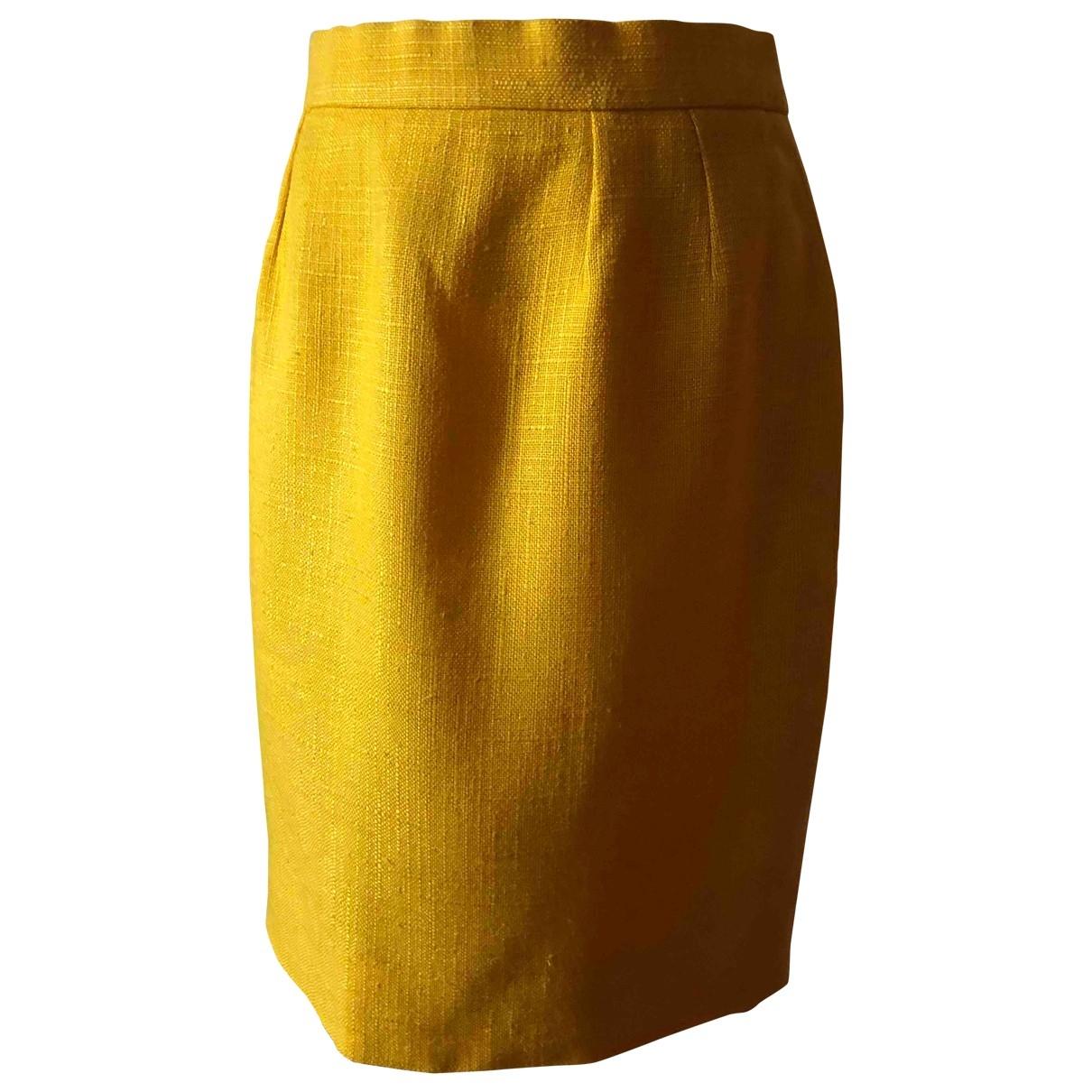 Dior \N Rocke in  Gelb Viskose