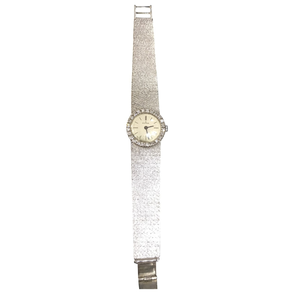Non Signé / Unsigned \N Silver White gold watch for Women \N