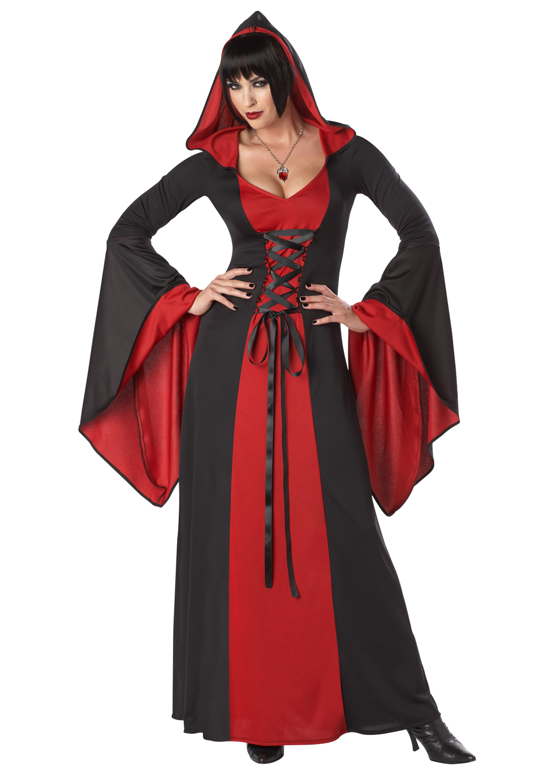 Deluxe Hooded Robe Costume For Women
