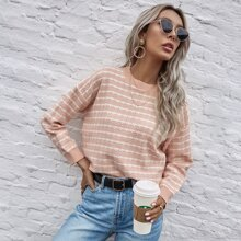 Plaid Pattern Drop Shoulder Sweater