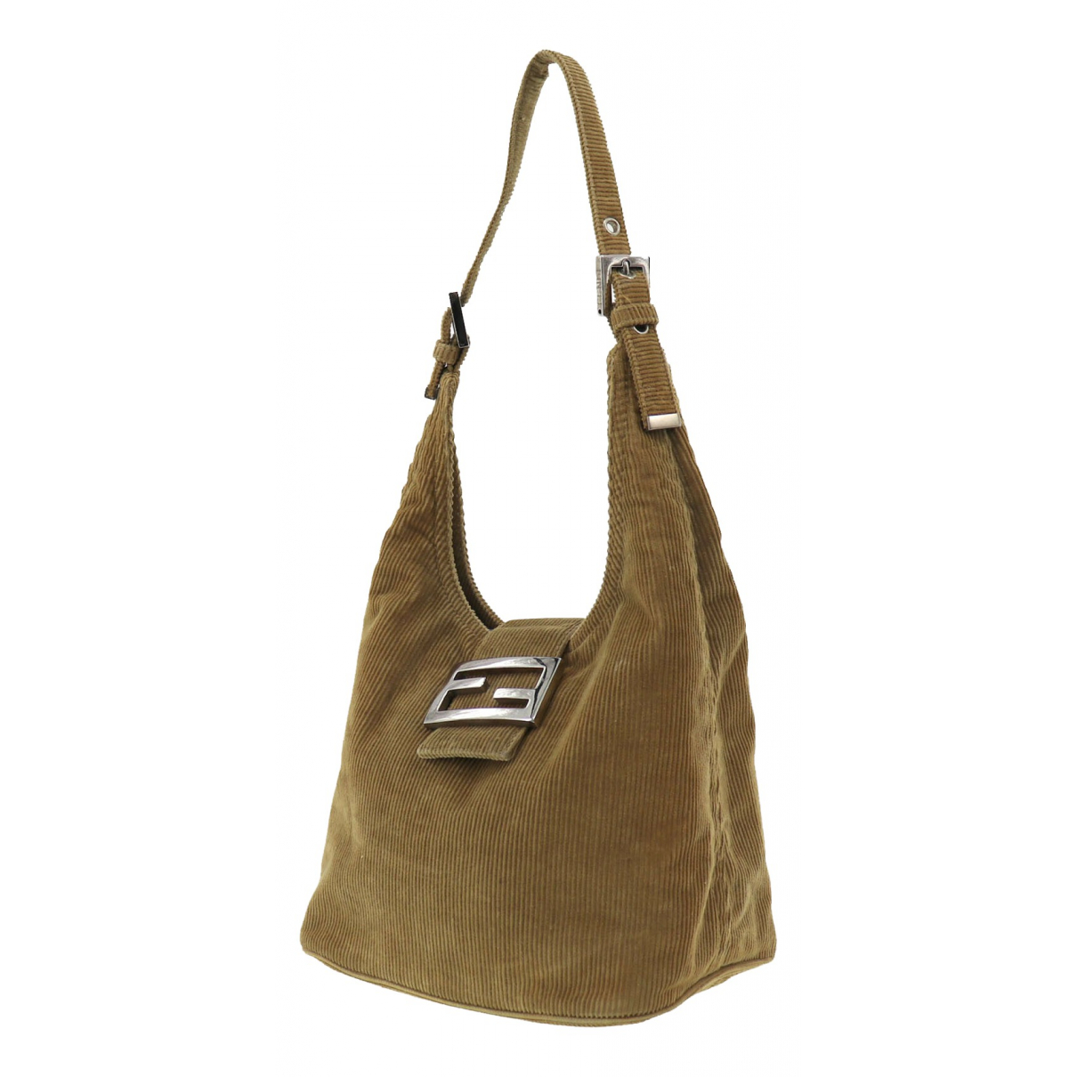 Fendi \N Handtasche in  Beige Samt