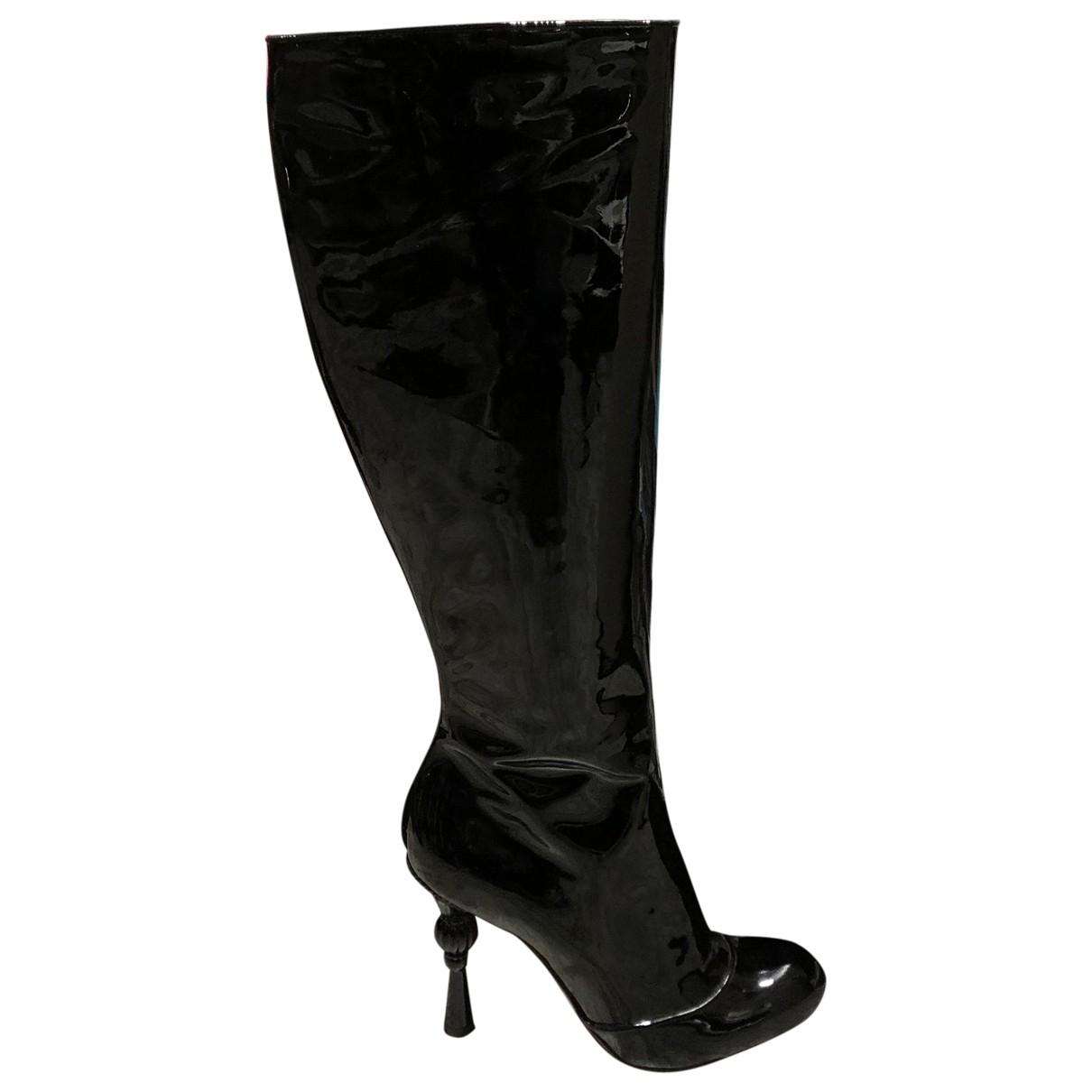 Dolce & Gabbana \N Black Patent leather Boots for Women 40 EU